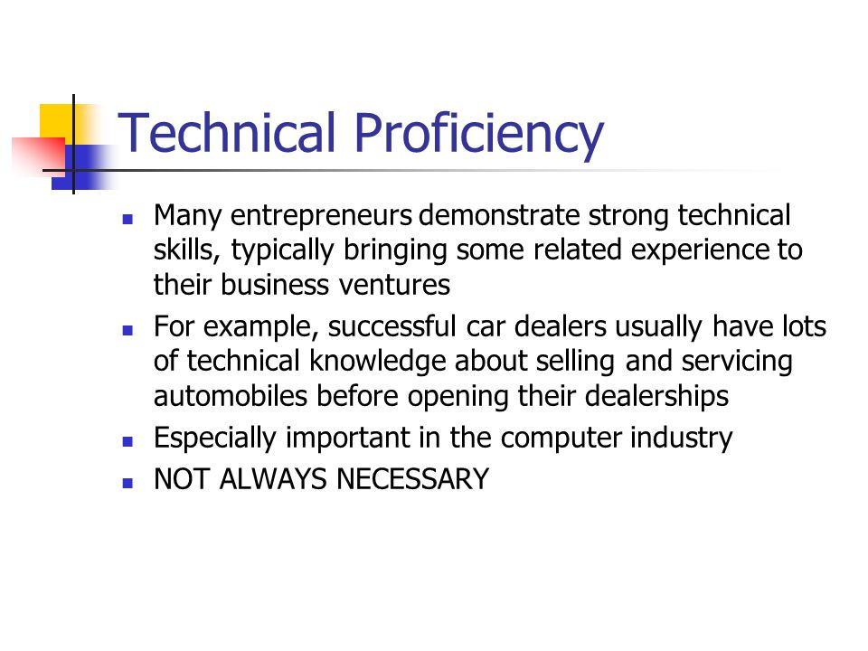 Technical Proficiency
