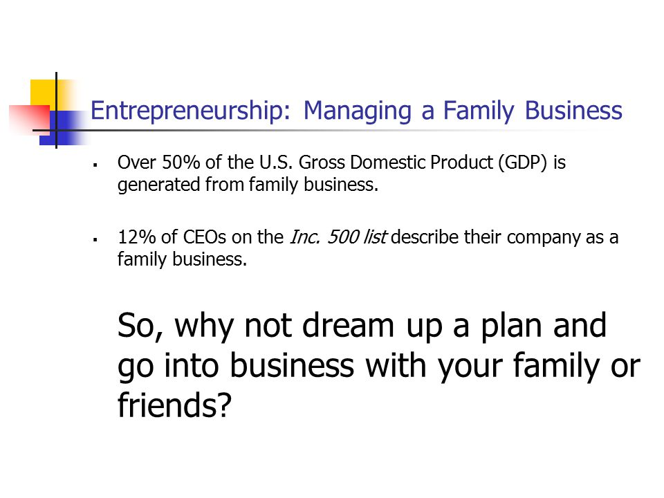 Entrepreneurship: Managing a Family Business