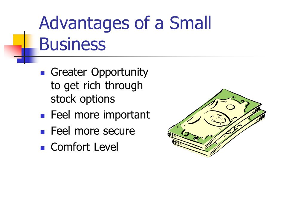 Advantages of a Small Business