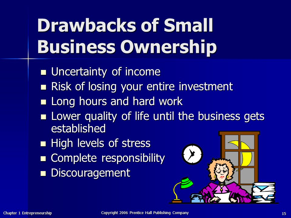 Drawbacks of Small Business Ownership