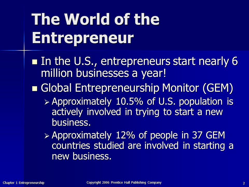 The World of the Entrepreneur
