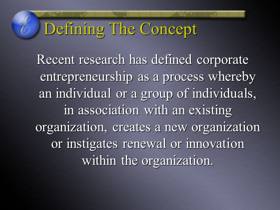 Defining The Concept