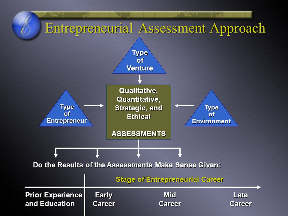 Entrepreneurial Assessment Approach