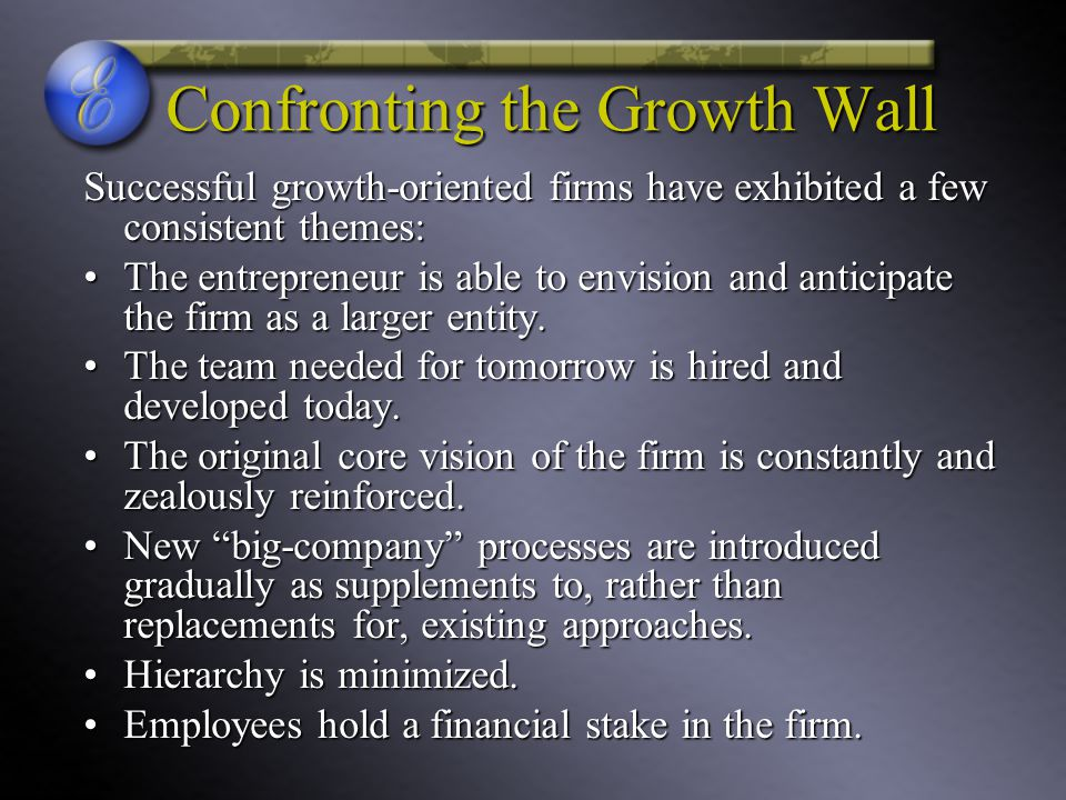 Confronting the Growth Wall