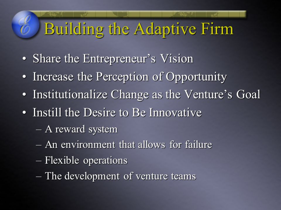 Building the Adaptive Firm