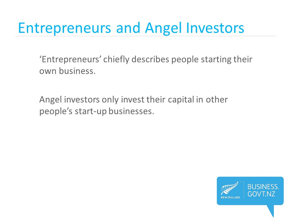 Entrepreneurs and Angel Investors