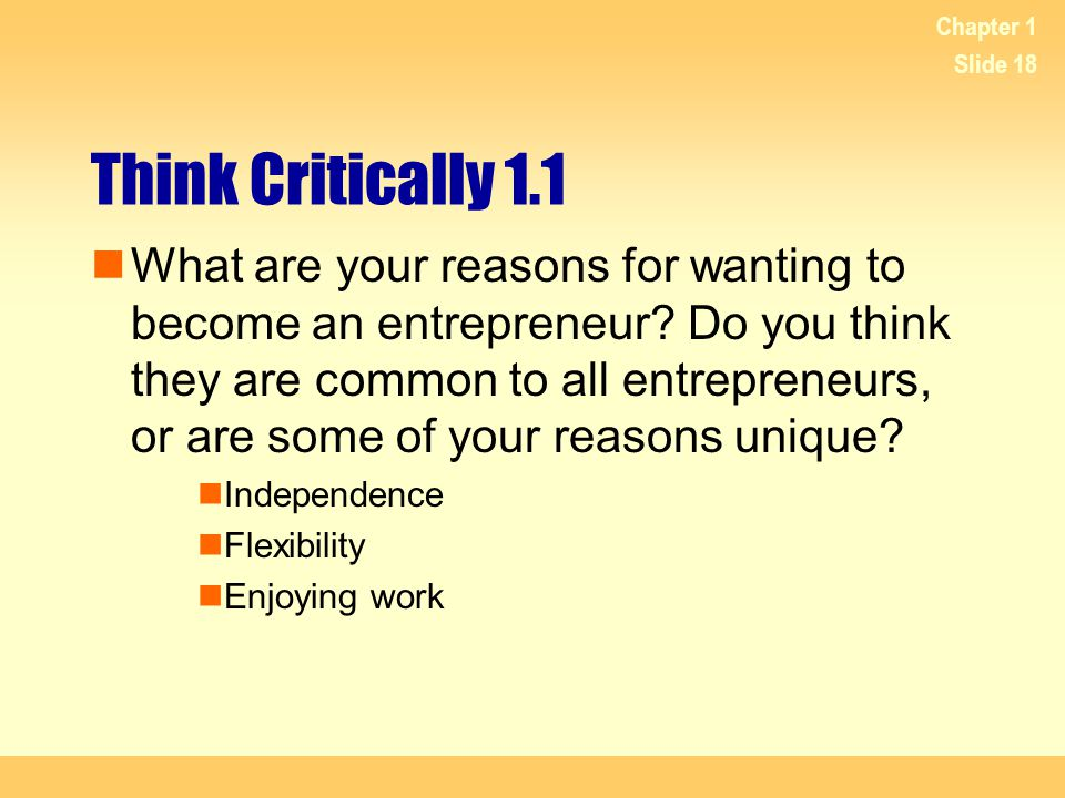 Chapter 1 Think Critically 1.1.