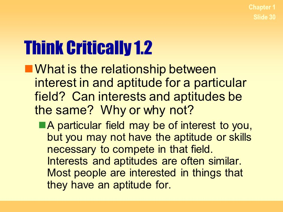 Chapter 1 Think Critically 1.2.