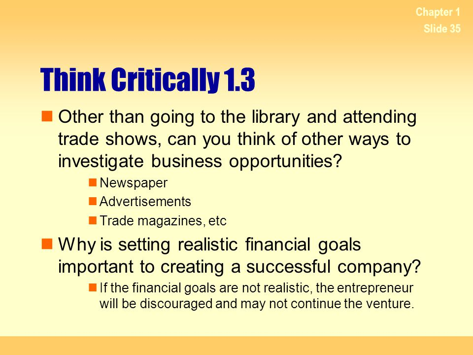 Chapter 1 Think Critically 1.3.