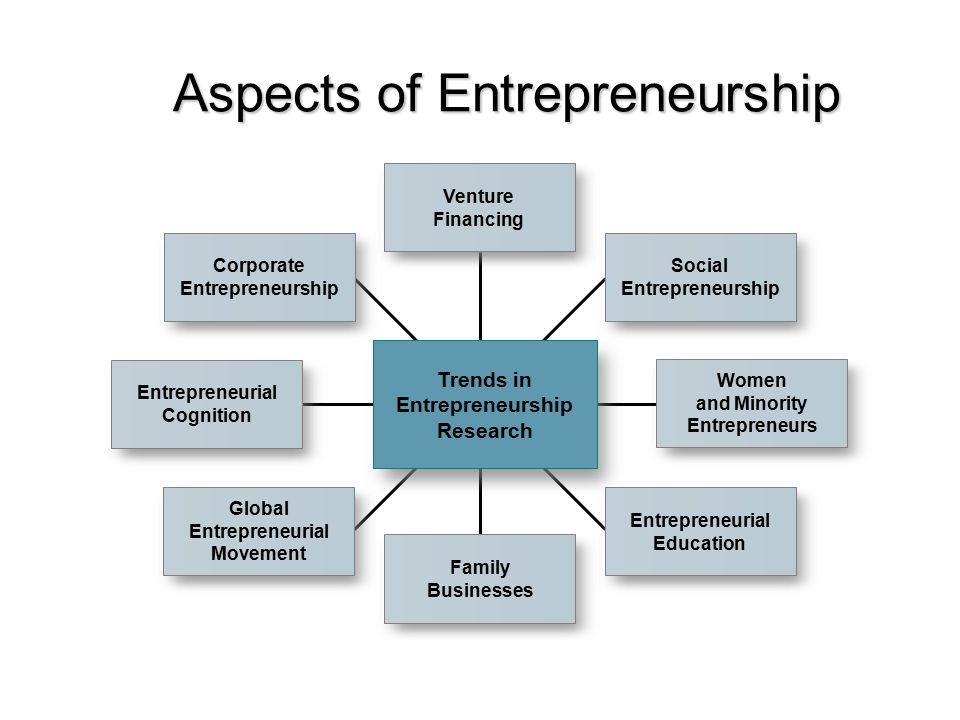 Aspects of Entrepreneurship