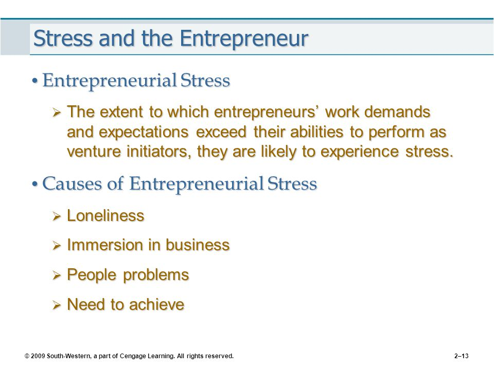 Stress and the Entrepreneur