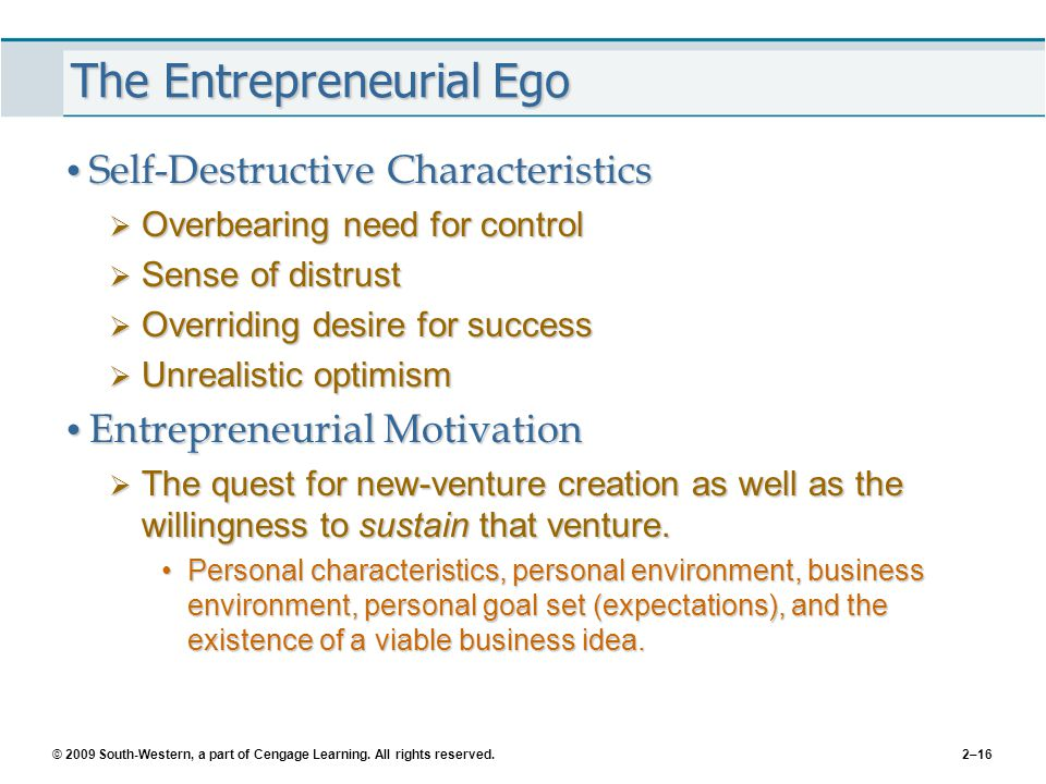 The Entrepreneurial Ego