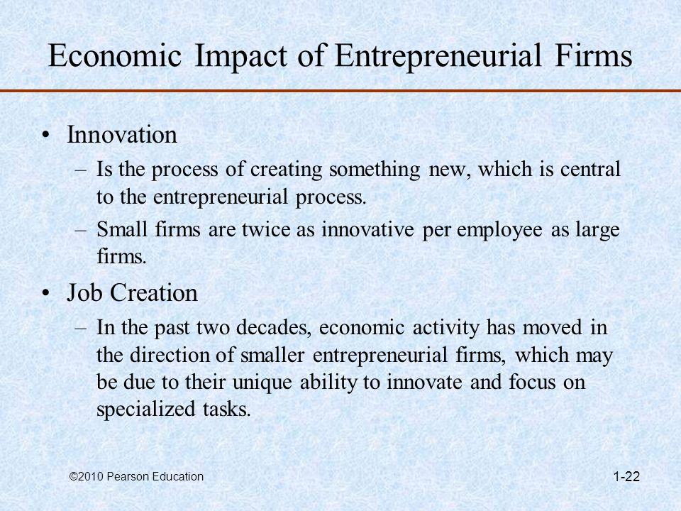 Economic Impact of Entrepreneurial Firms