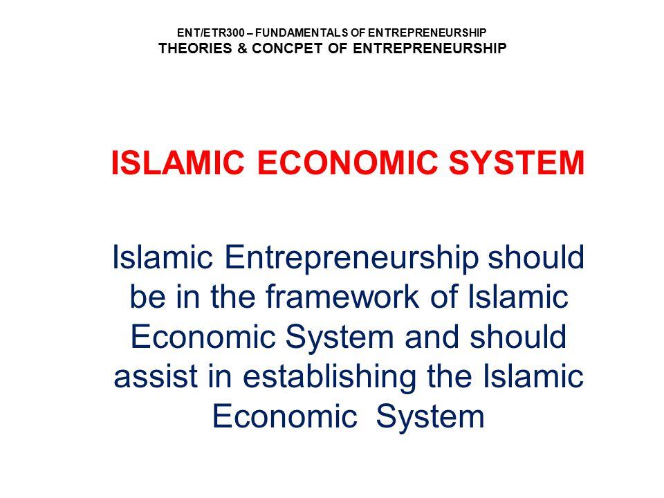 ISLAMIC ECONOMIC SYSTEM