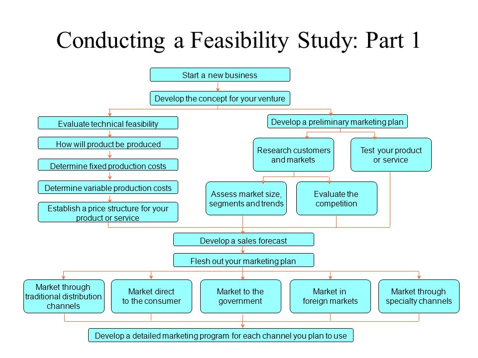 Conducting a Feasibility Study: Part 1