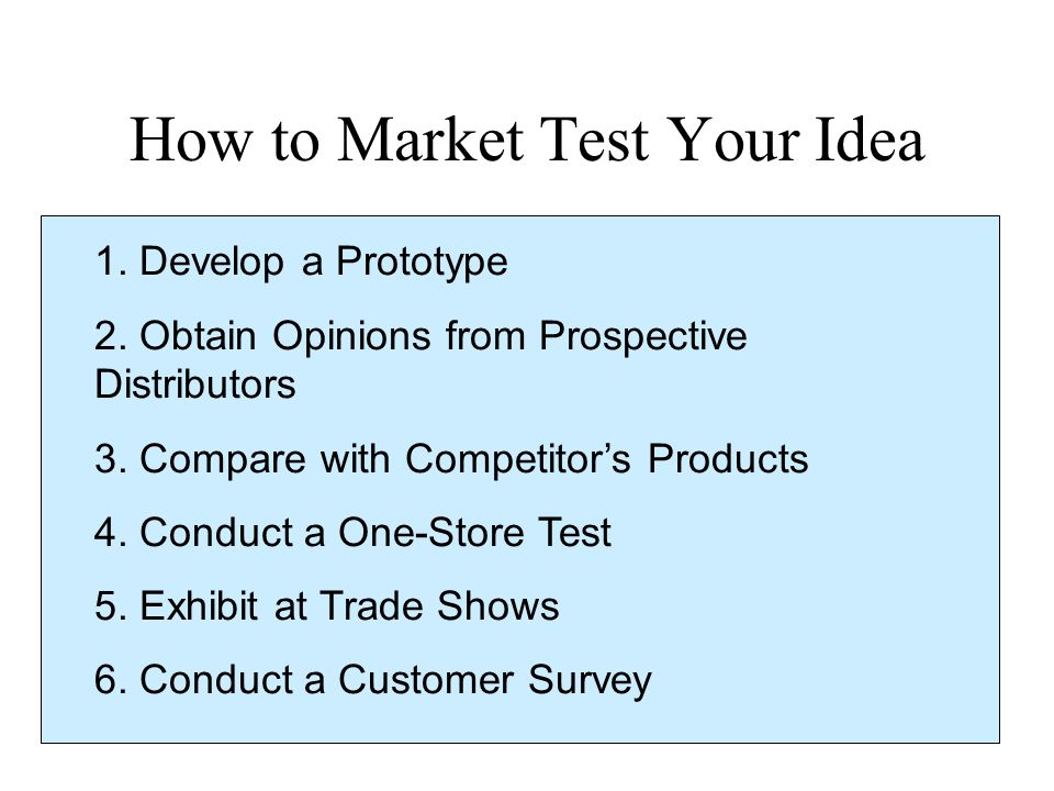 How to Market Test Your Idea