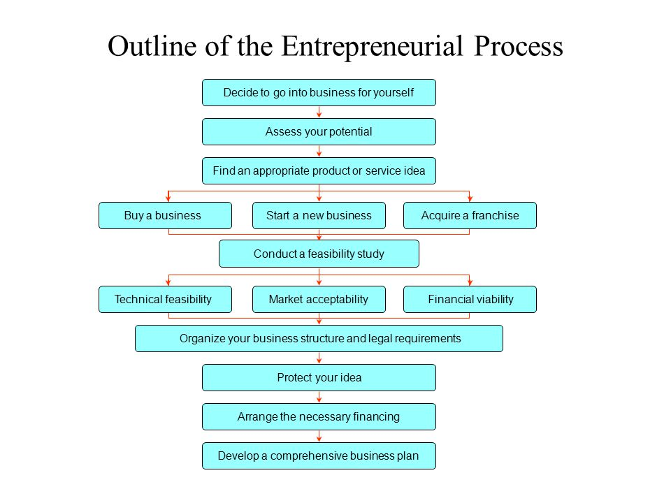 Outline of the Entrepreneurial Process