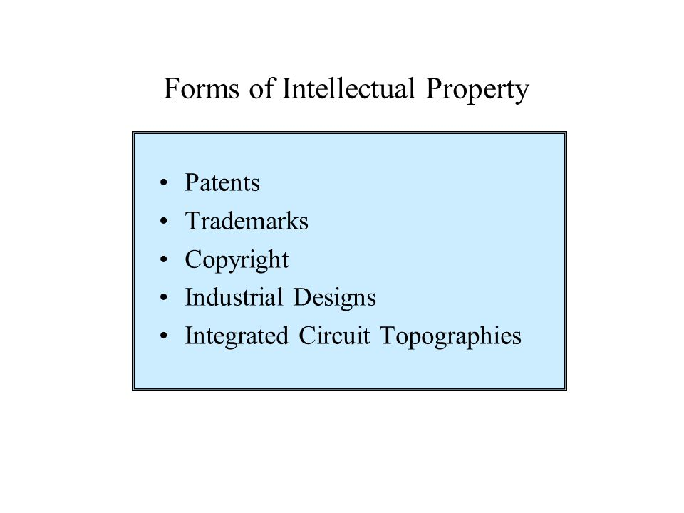 Forms of Intellectual Property