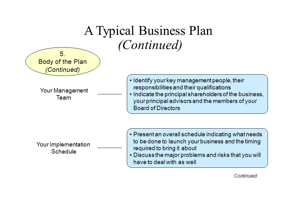 A Typical Business Plan