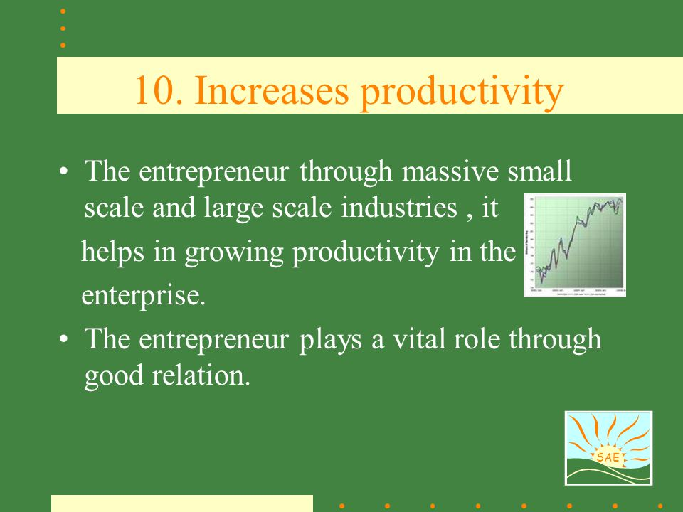 10. Increases productivity