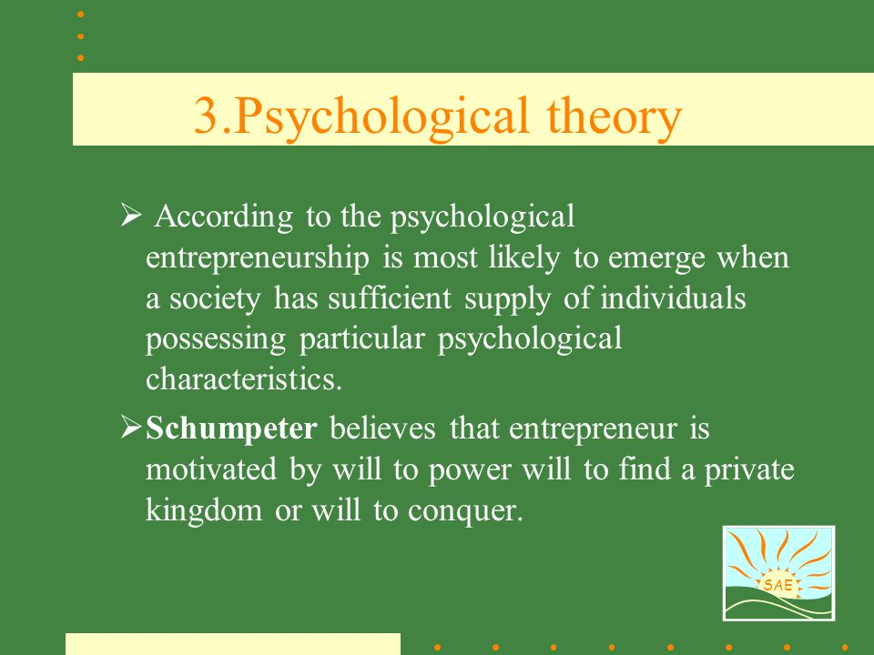 3.Psychological theory