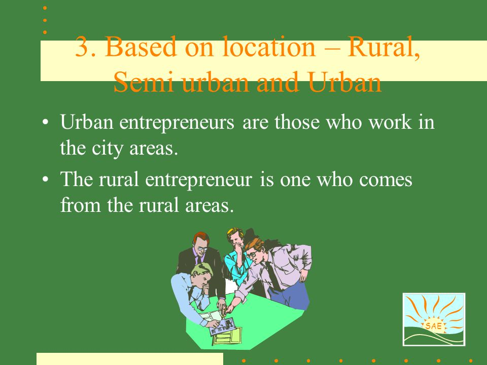 3. Based on location – Rural, Semi urban and Urban