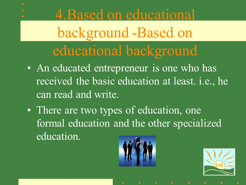 4.Based on educational background -Based on educational background