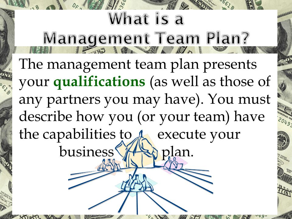 What is a Management Team Plan