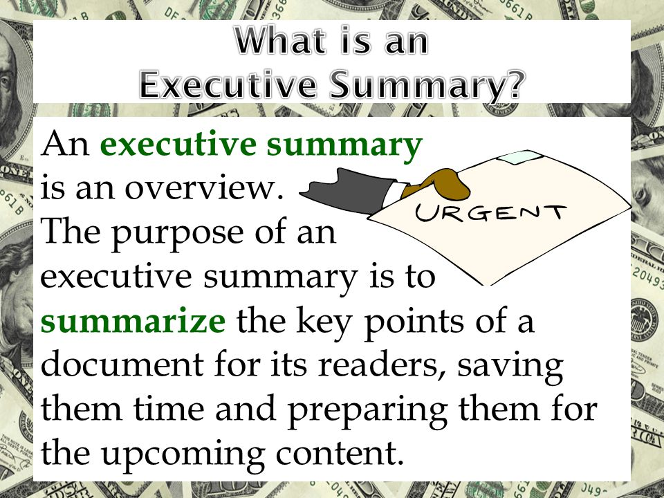 What is an Executive Summary