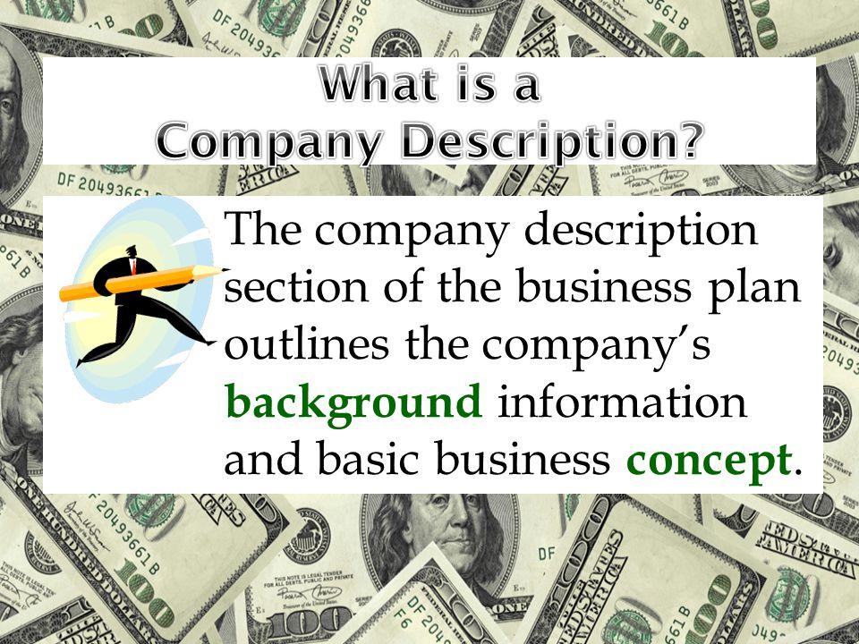 What is a Company Description