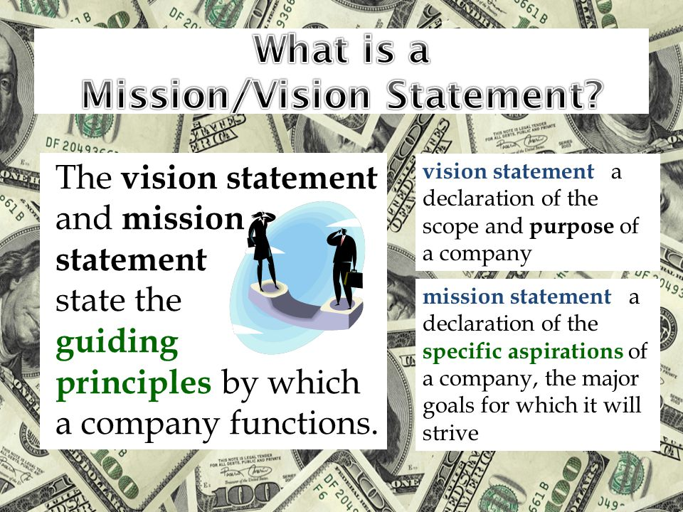 What is a Mission/Vision Statement