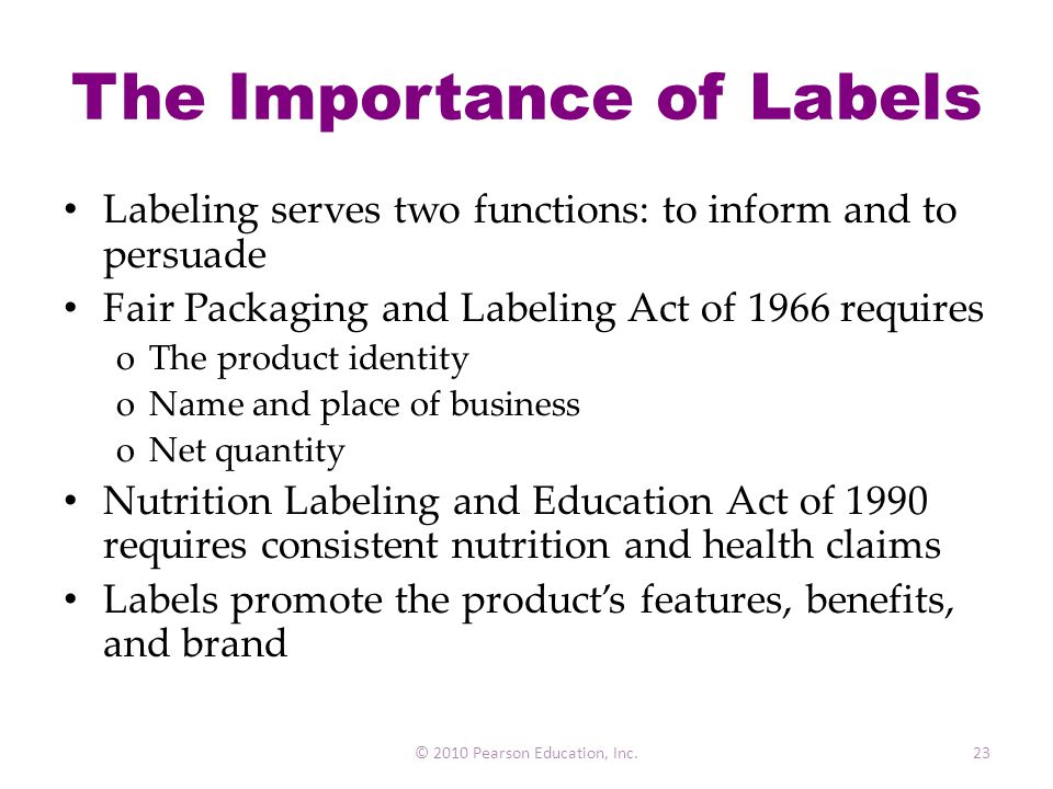 The Importance of Labels