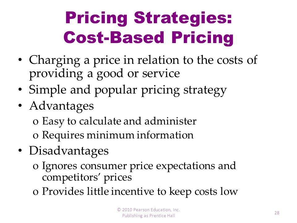 Pricing Strategies: Cost-Based Pricing