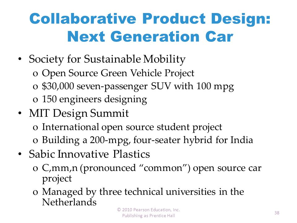 Collaborative Product Design: Next Generation Car
