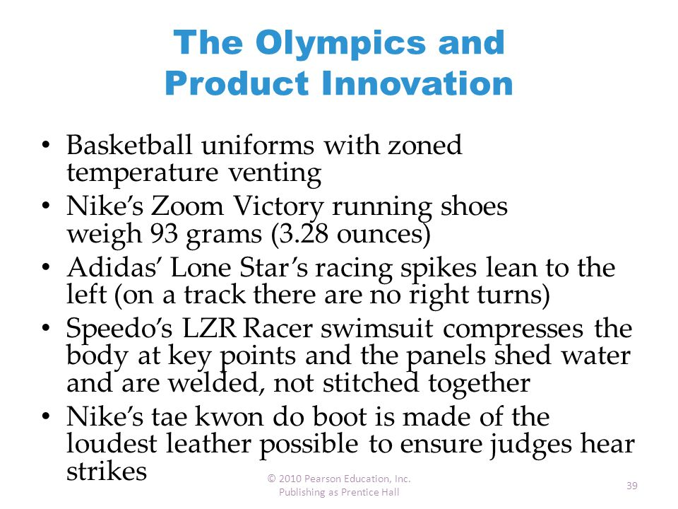 The Olympics and Product Innovation