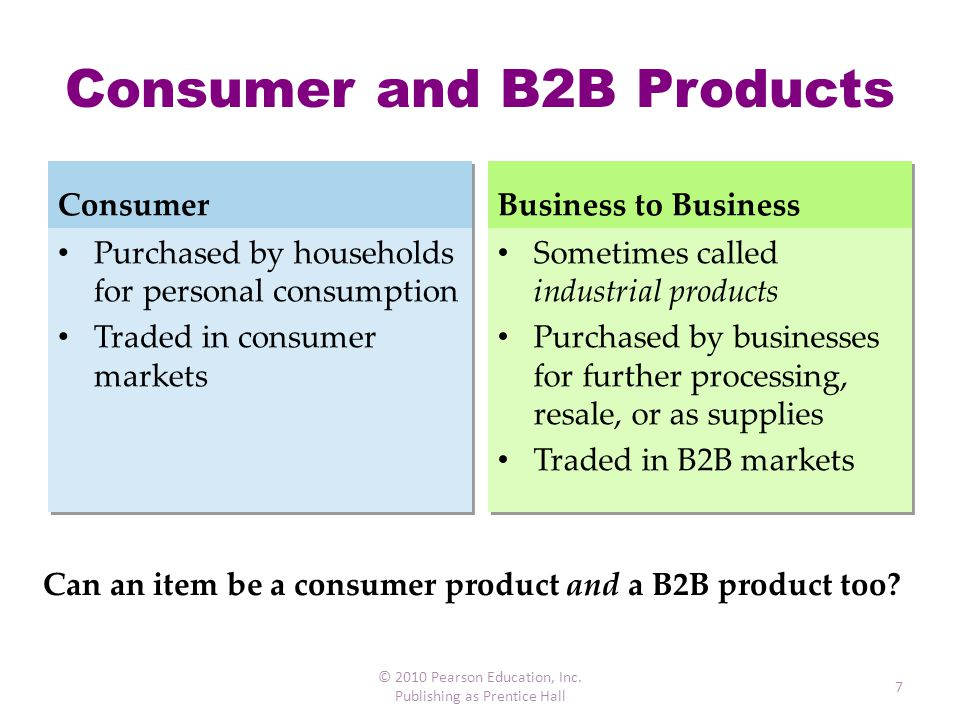 Consumer and B2B Products