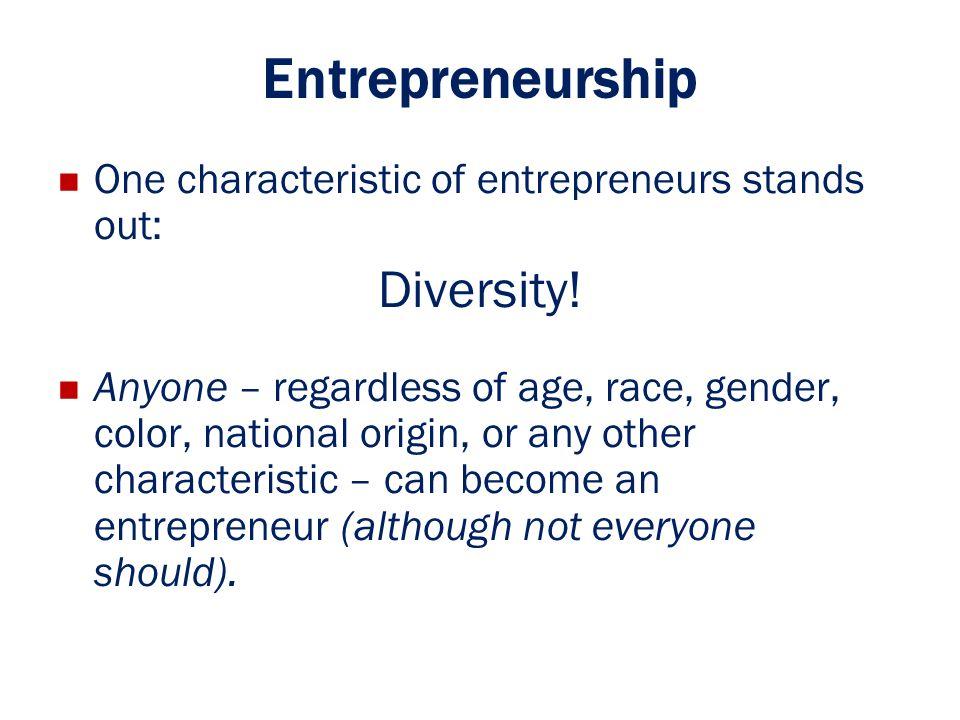 Entrepreneurship Diversity!