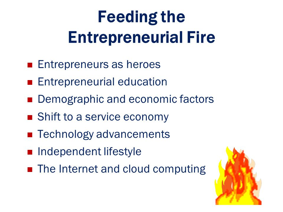 Feeding the Entrepreneurial Fire
