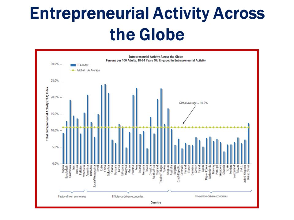 Entrepreneurial Activity Across the Globe
