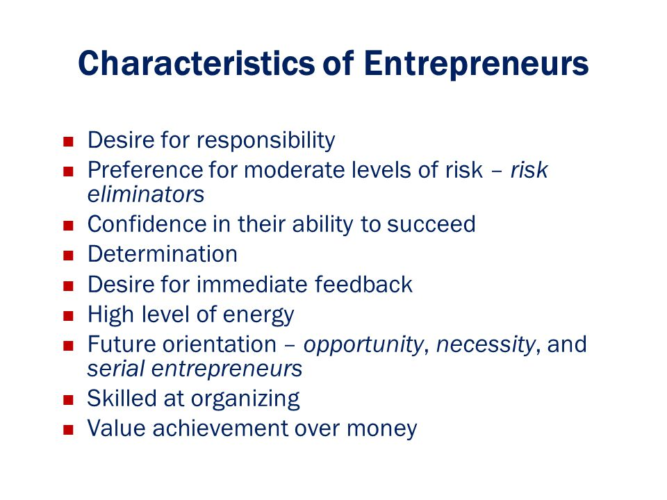 attributes of entrepreneur 2014-5-20  11 qualities all great managers possess published on may 20,  there are many key attributes of a good manager that are derivatives of  serial entrepreneur,.