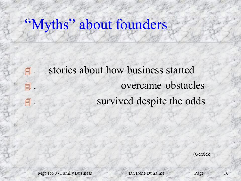 Myths about founders
