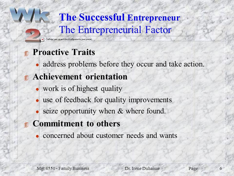 The Successful Entrepreneur The Entrepreneurial Factor