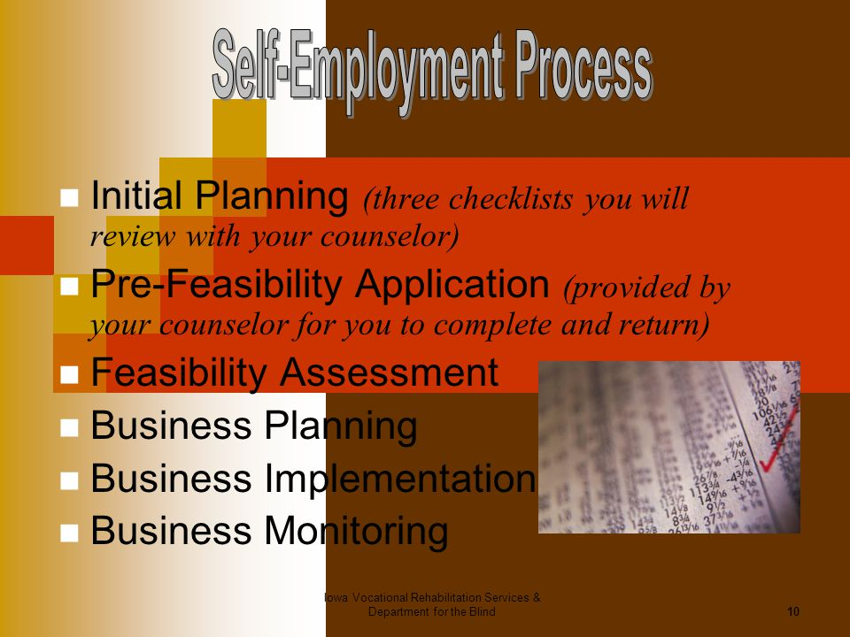 Self-Employment Process