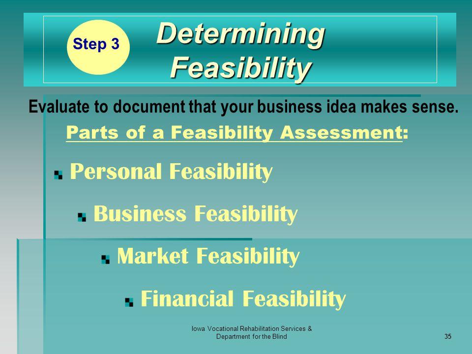 Determining Feasibility