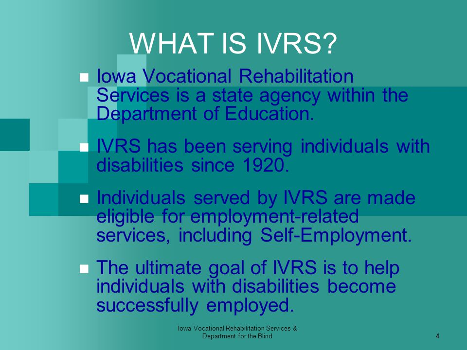 Iowa Vocational Rehabilitation Services & Department for the Blind