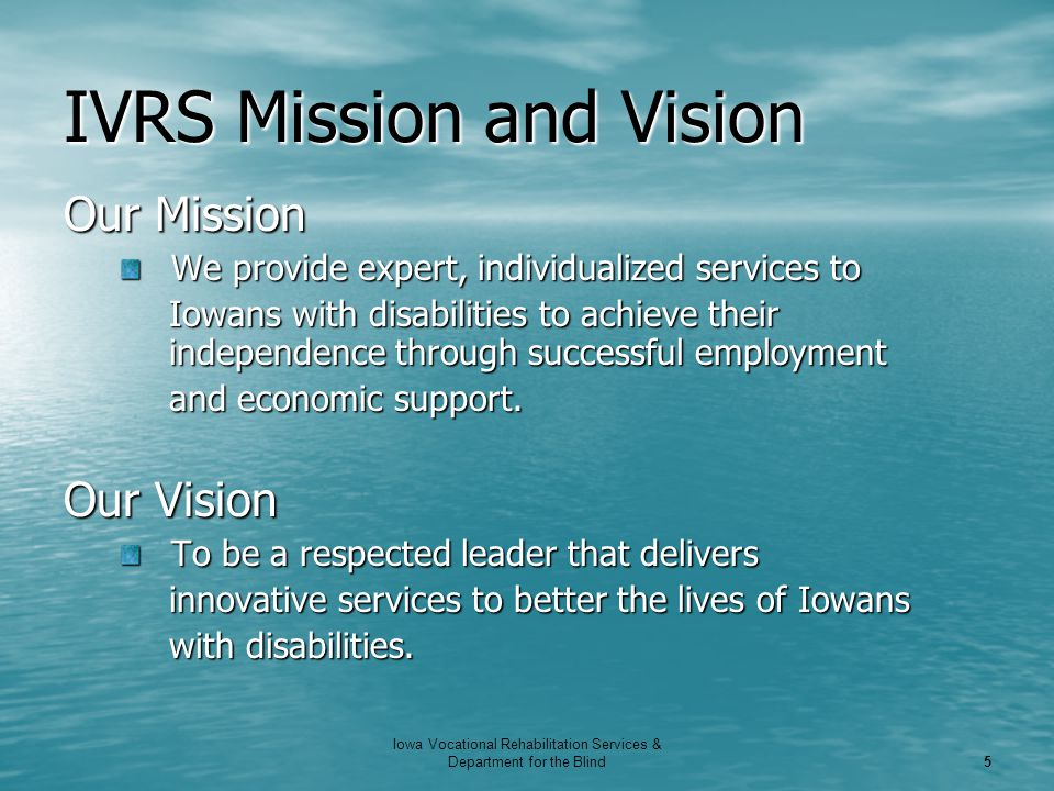 IVRS Mission and Vision