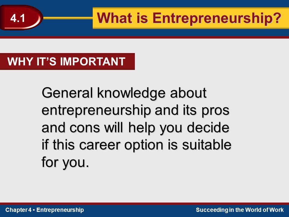 if this career option is suitable for you.