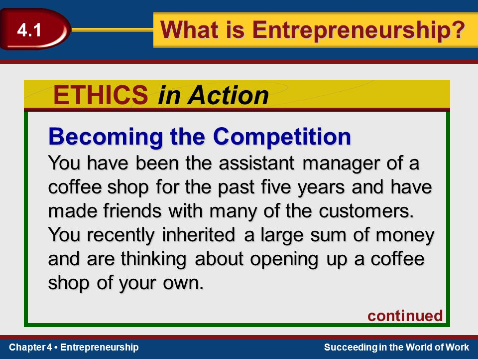 ETHICS in Action Becoming the Competition