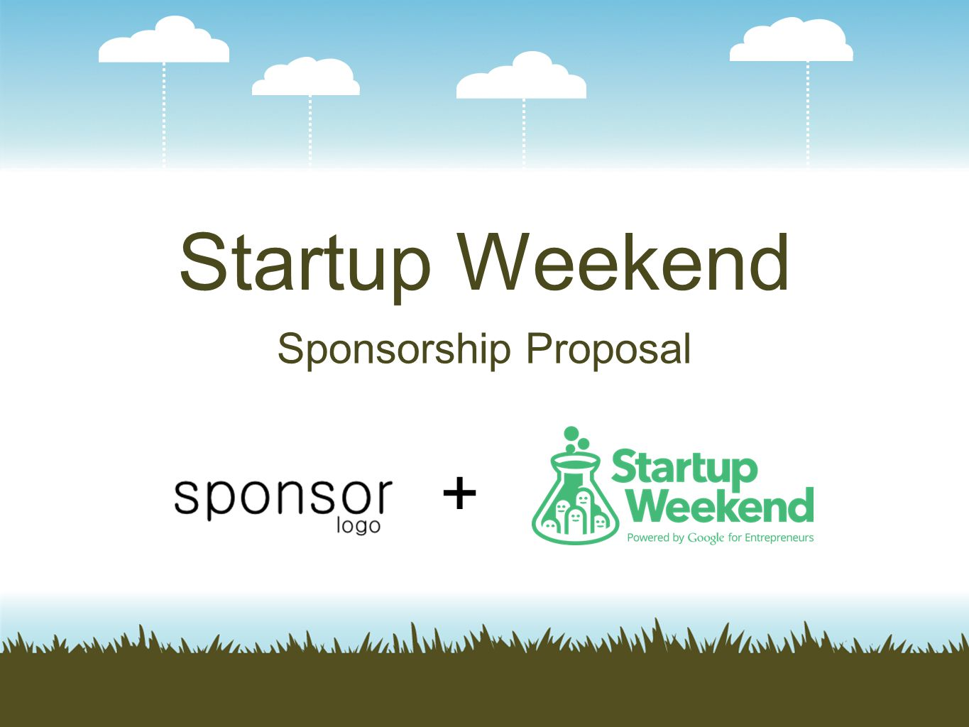 Startup Weekend Sponsorship Proposal +