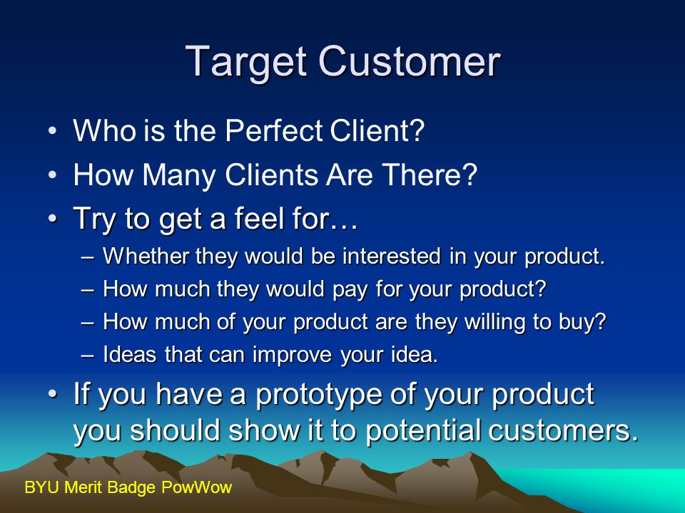 Target Customer Who is the Perfect Client How Many Clients Are There